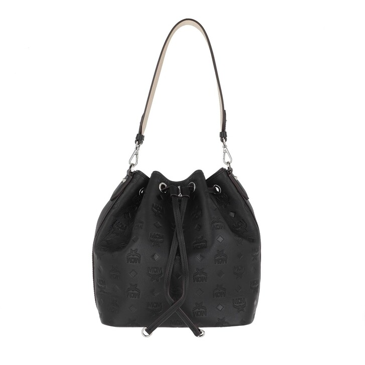 Reisetasche, MCM, Es Mn Leather Drawstring Small   Black
