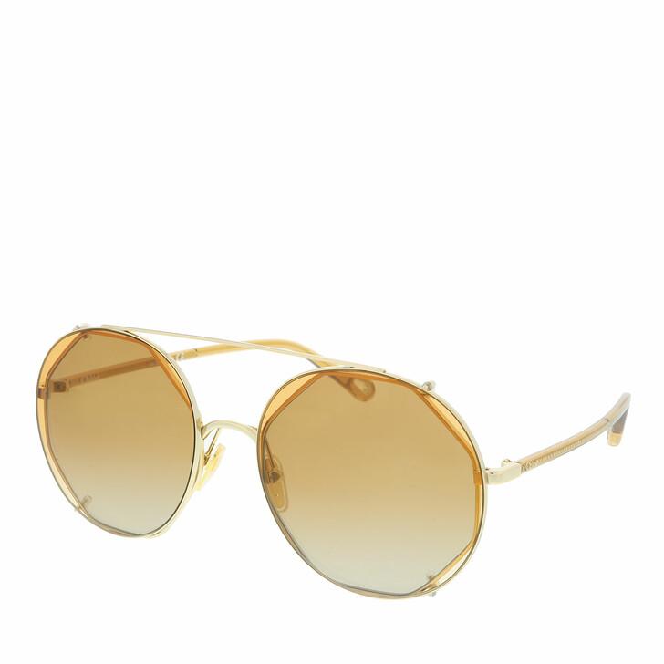 Sonnenbrille, Chloé, Sunglass WOMAN METAL GOLD-BROWN-ORANGE