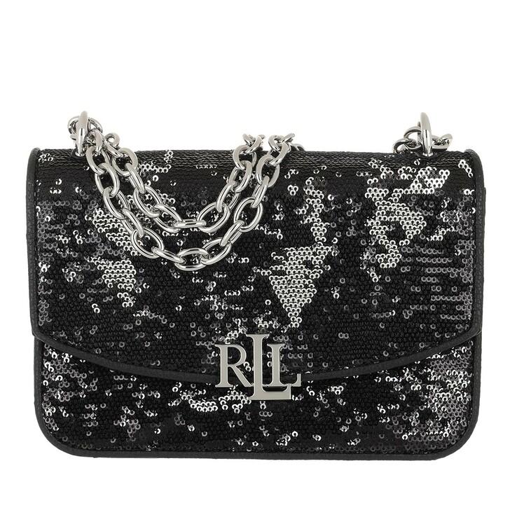 bags, Lauren Ralph Lauren, Madison Crossbody Medium Elmswood Black