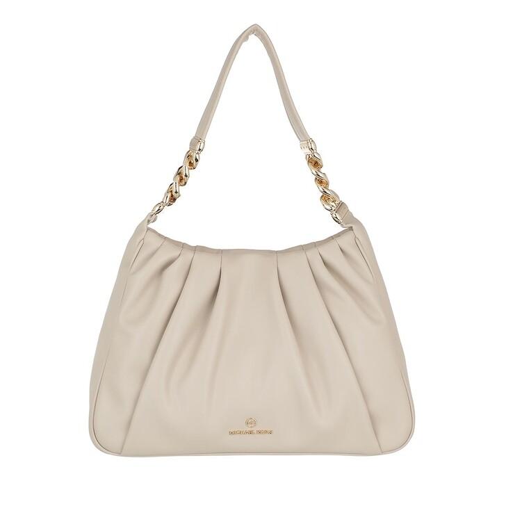 bags, MICHAEL Michael Kors, Hannah Medium Shoulder Light Sand