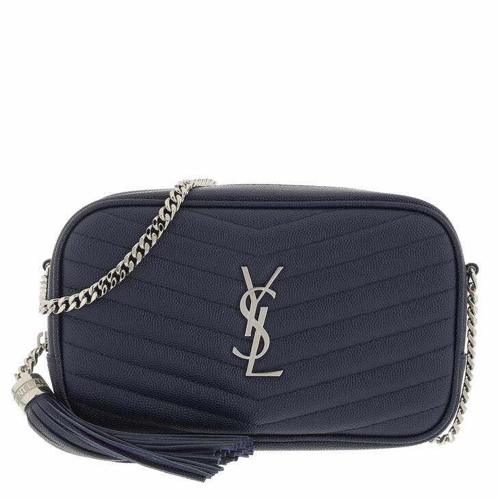 bags, Saint Laurent, Lou Crossbody Bag Leather Blue