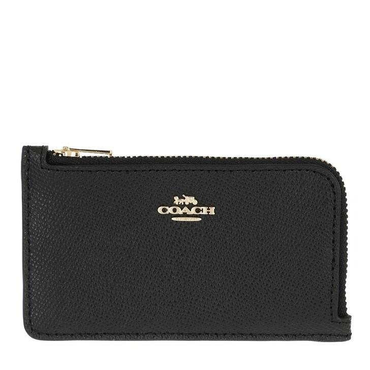 Geldbörse, Coach, Crossgrain Leather Small Wallet Black