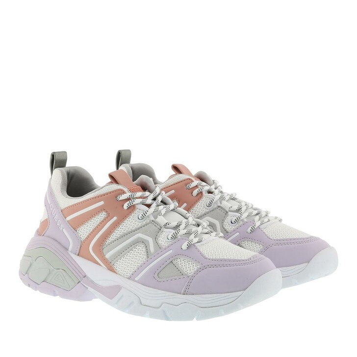 Schuh, Guess, Marlia Active Lady Leather Sneaker White/Soft Lilac/Coral