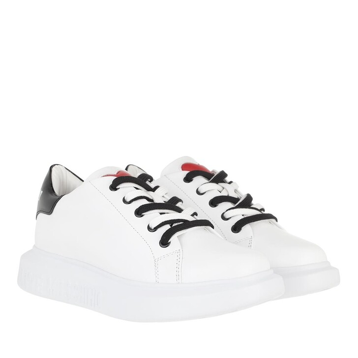 Schuh, Love Moschino, Sneakerd Gomma40 Vit  Bianco Nero