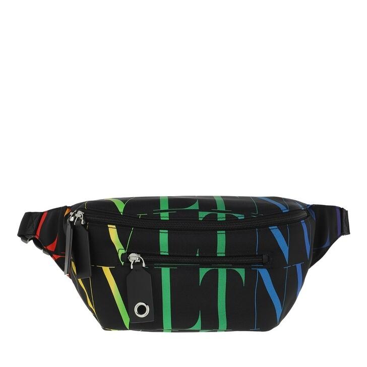 Handtasche, Valentino, VLTN Times Belt Bag Nylon Black/Multicolor