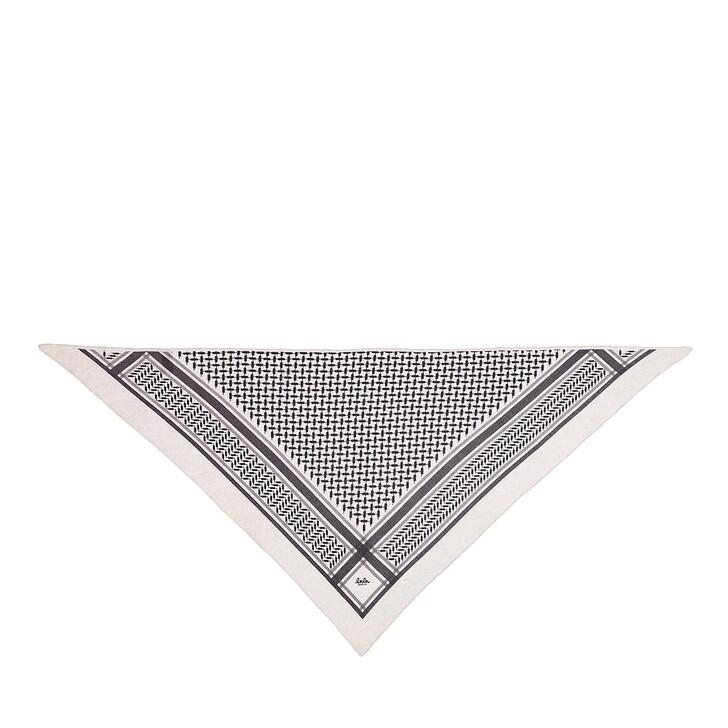 scarves, Lala Berlin, Triangle Trinity Classic M Alabastro Off-White