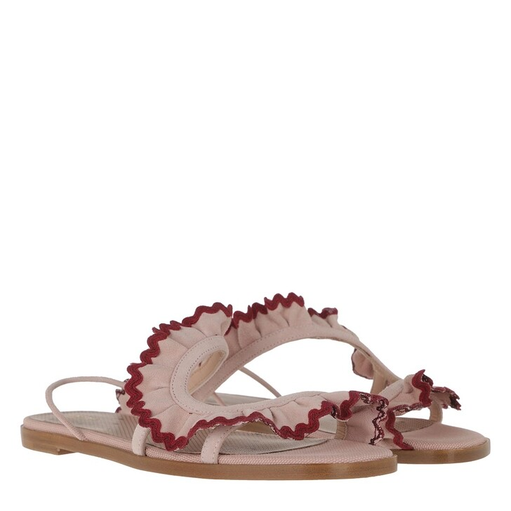 shoes, Red Valentino, Sandal Nude/Bordeaux