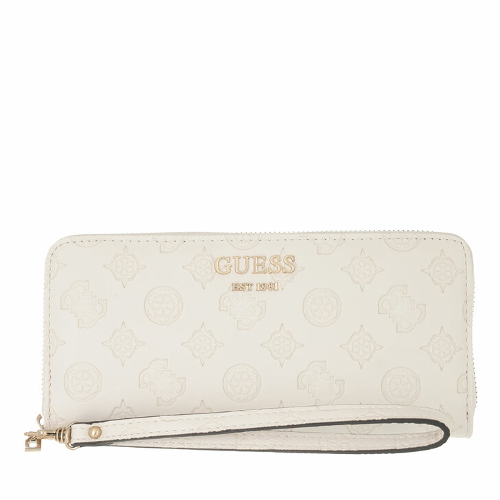 wallets, Guess, Vikky Slg Large Zip Around Stone