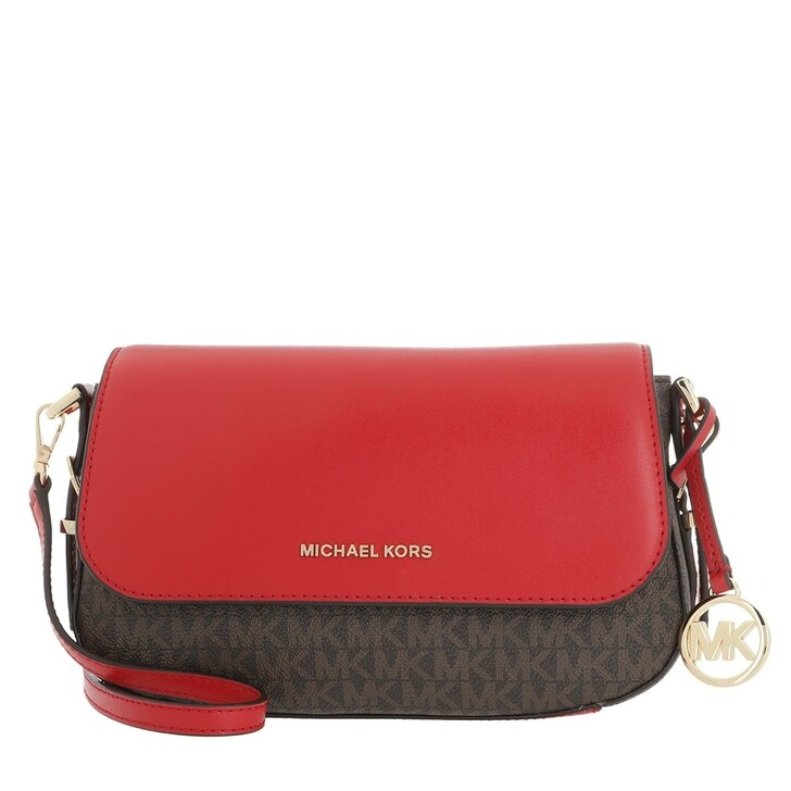 Handtasche, MICHAEL Michael Kors, Bedford Large Flap Xbody Brown/Burnt Red