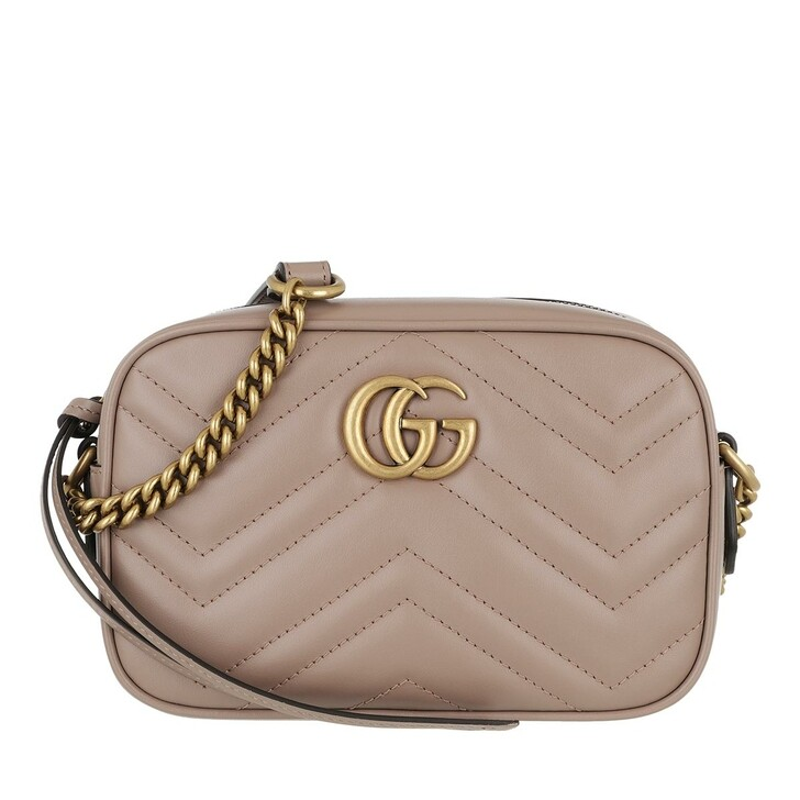 bags, Gucci, GG Marmont Matelassé Mini Bag Taupe