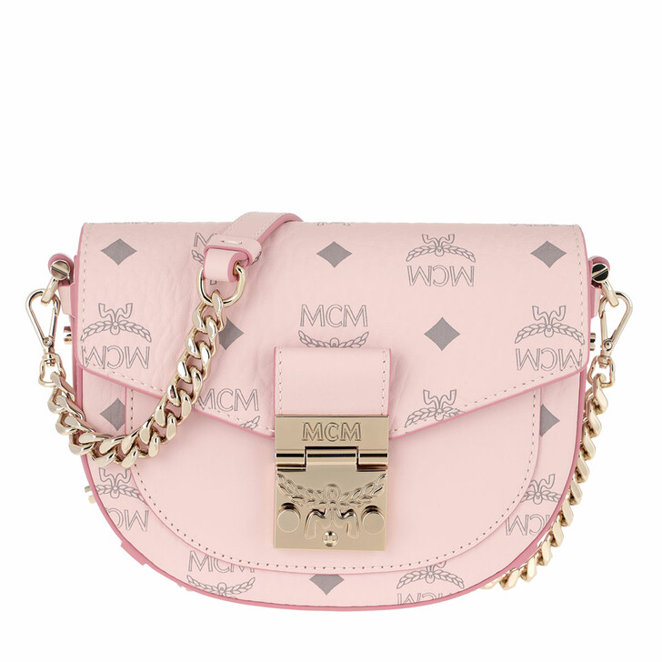 Handtasche, MCM, Patricia Visetos Crossbody Mini Powder Pink
