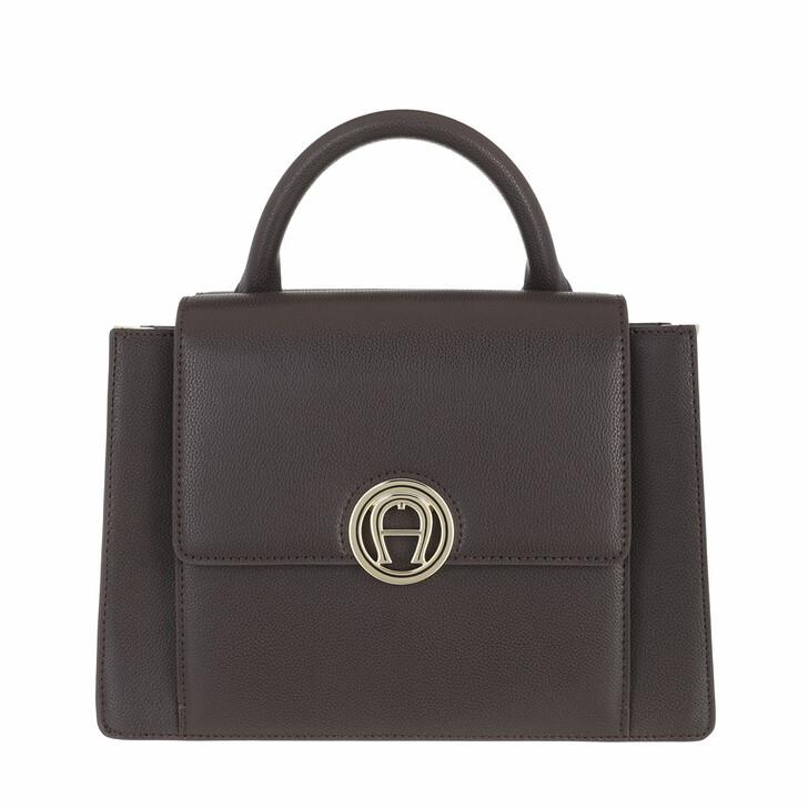 bags, AIGNER, Livia Handbag Espresso Brown