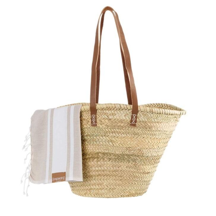 bags, Espadrij l'originale, SET PALMBASKET & BEACHPLAID x fashionette  nature