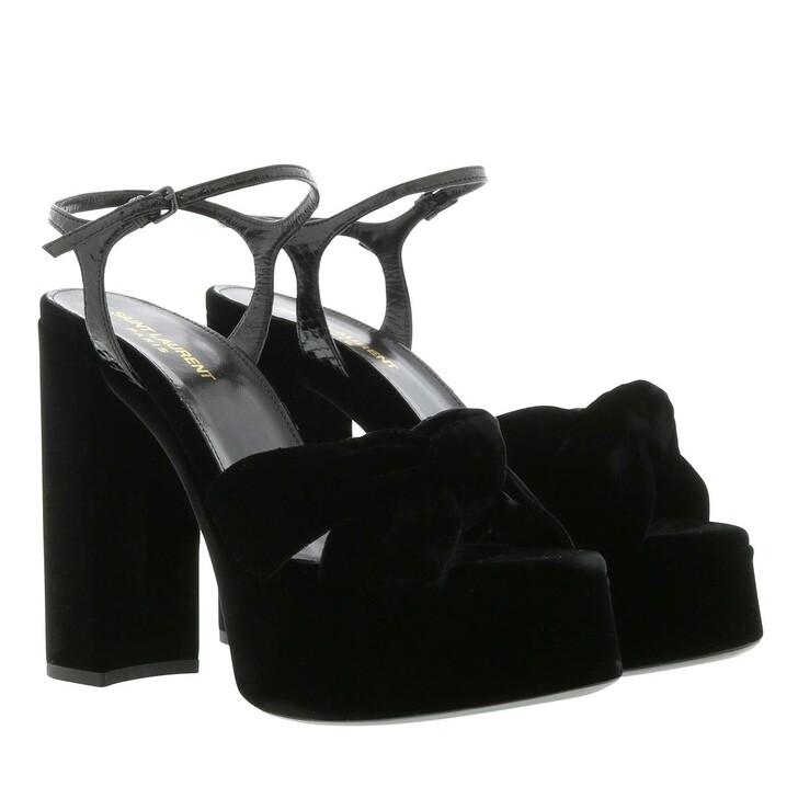 Schuh, Saint Laurent, Plateau Sandals Black