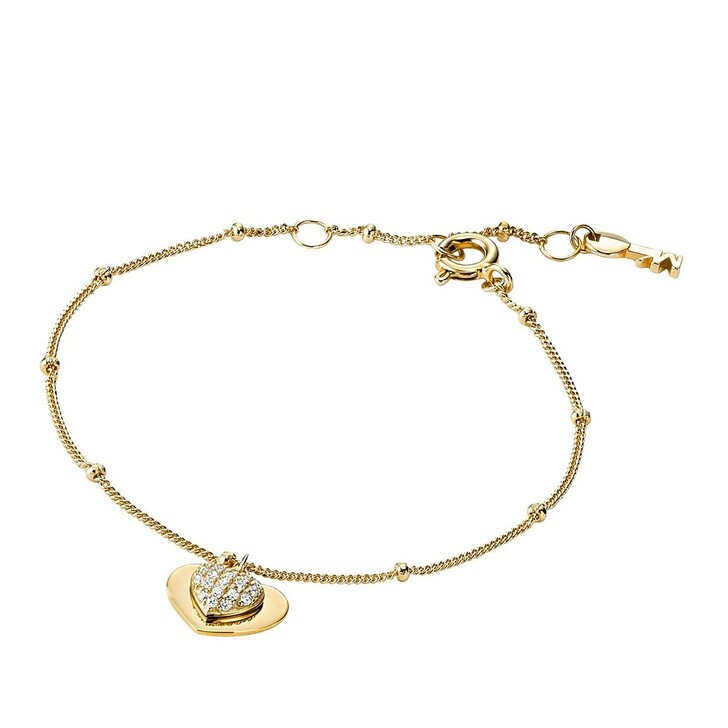 Armreif, Michael Kors, MKC1118AN710 Love Heart Duo Bracelet Gold