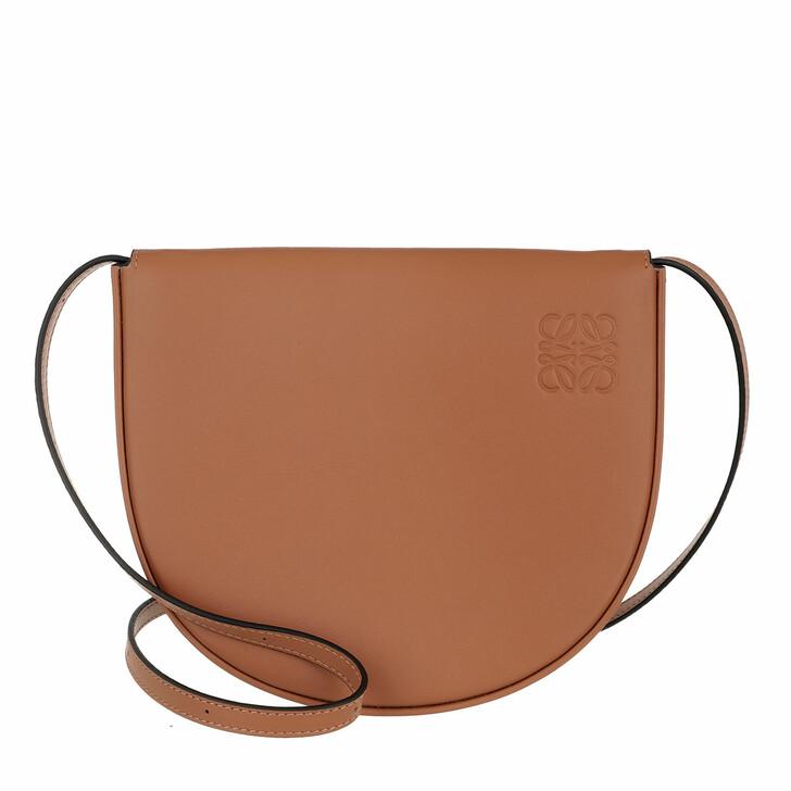Handtasche, Loewe, Heel Crossbody Bag Leather Tan