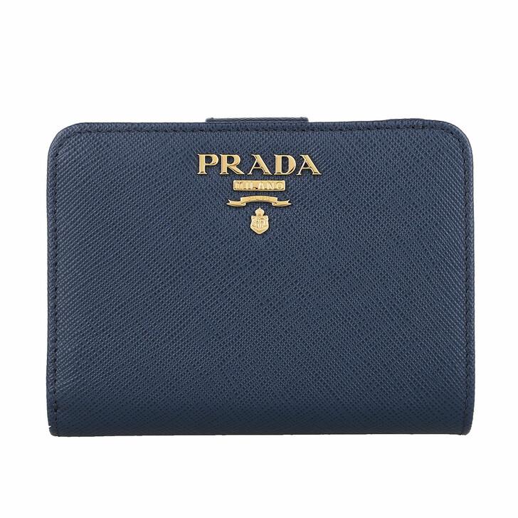 wallets, Prada, Small Wallet Saffiano Leather Blue