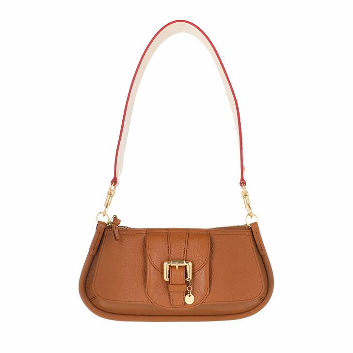 Handtasche, See By Chloé, Zip Up Crossbody Bag Caramel