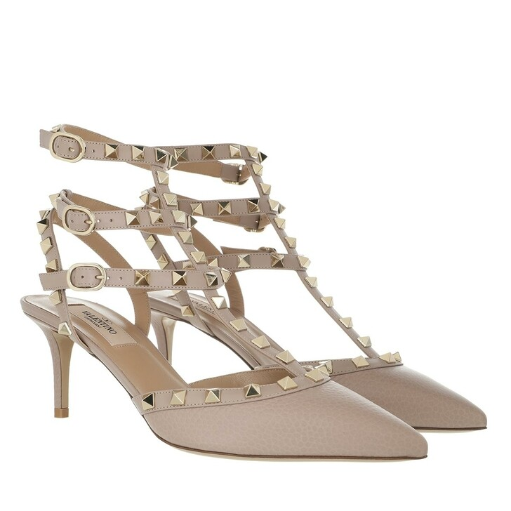 Schuh, Valentino, Slingback Rockstud Pumps Poudre