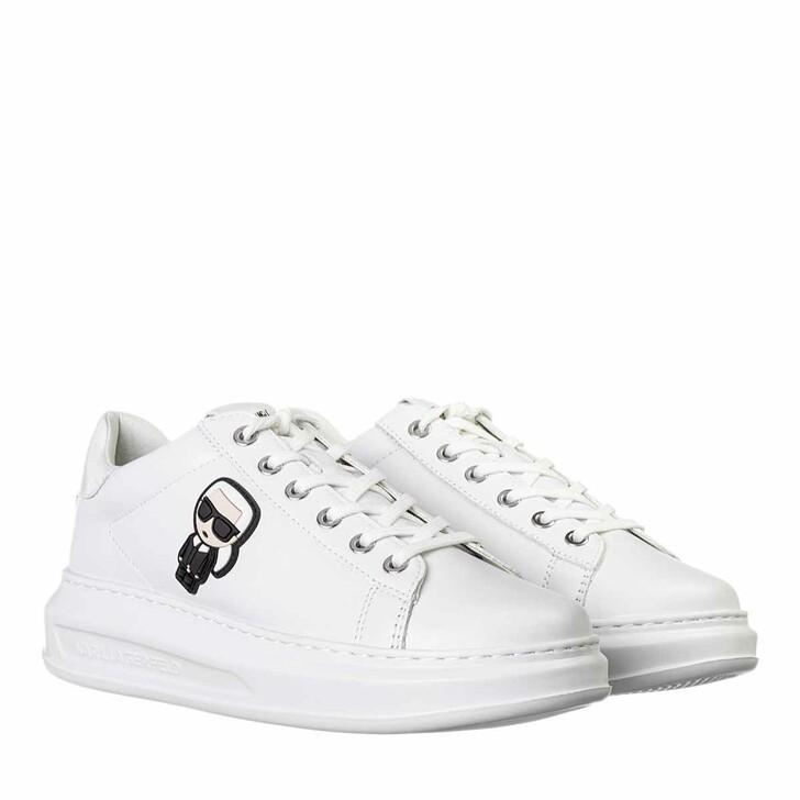 Schuh, Karl Lagerfeld, KAPRI Karl Ikonic Lo Lace White Lthr / Mono