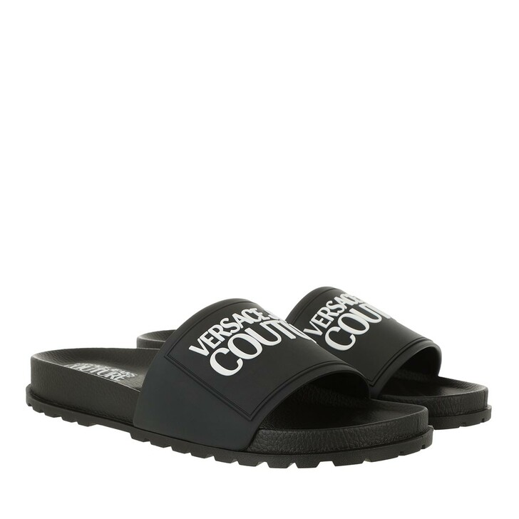 shoes, Versace Jeans Couture, Pool Sliders Black