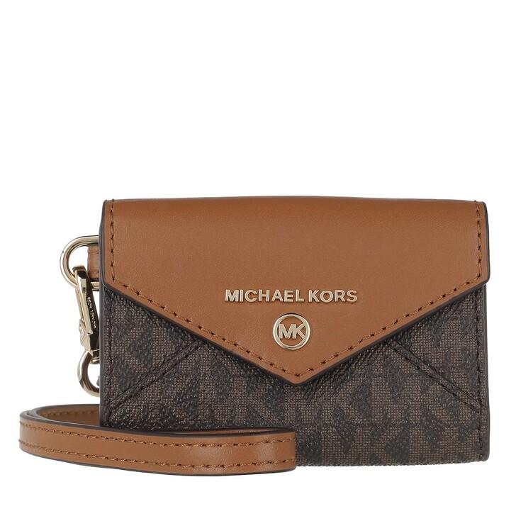 wallets, MICHAEL Michael Kors, Medium Conv Id Lanyard Brown/Acorn