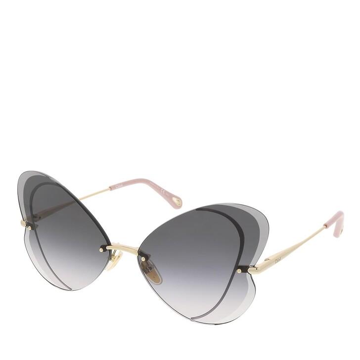 sunglasses, Chloé, CH0064S-001 65 Sunglass Woman Metal Gold-Gold-Grey