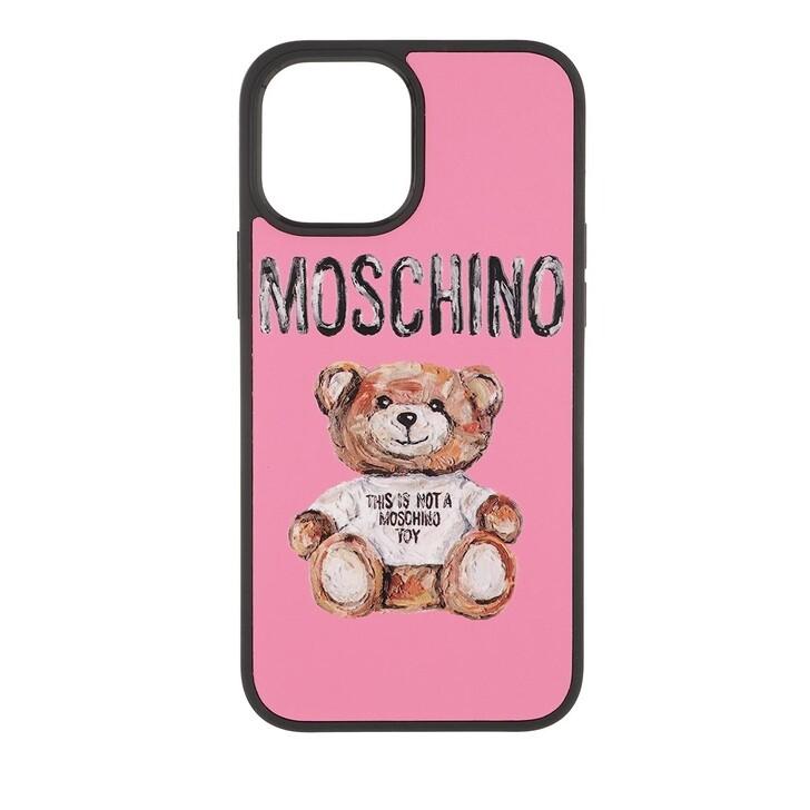 smart_cases, Moschino, Cover Orso I-Phone 12 Pro Max Fantasia Fuxia