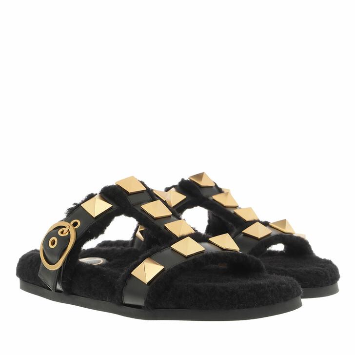 shoes, Valentino Garavani, Slide Black