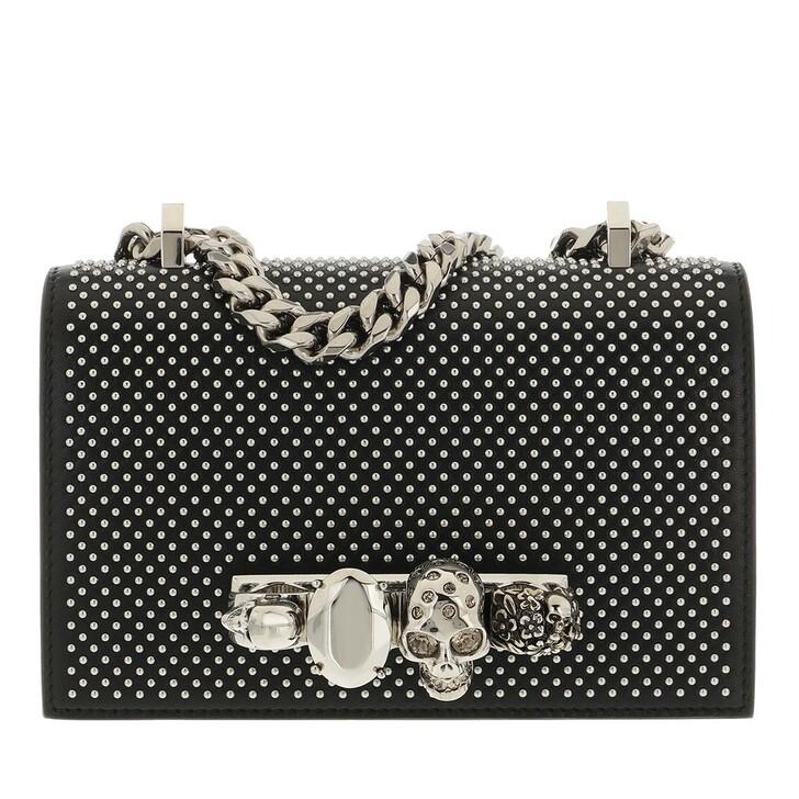 bags, Alexander McQueen, Mini Jewell Satchel Black