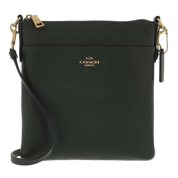 bags, Coach, Crossgrain Leather Kitt Amazon Green
