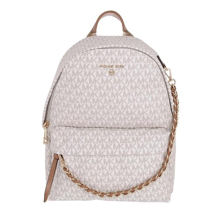 Reisetasche, MICHAEL Michael Kors, Slater Medium Backpack Vanilla/Acorn