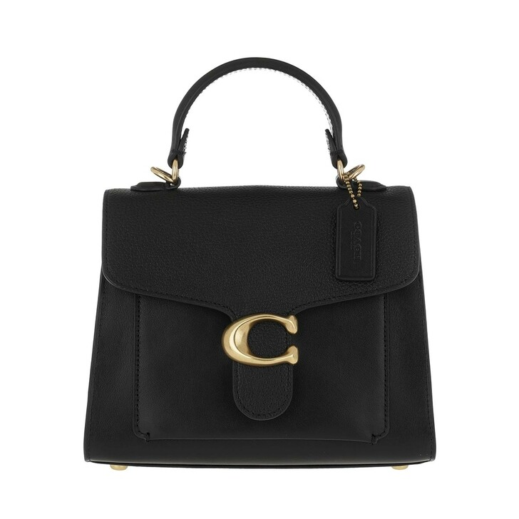 bags, Coach, Mixed Leather Tabby Top Handle 20 B4/Black