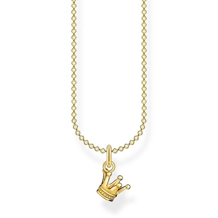 Kette, Thomas Sabo, Necklace Crown Yellow Gold