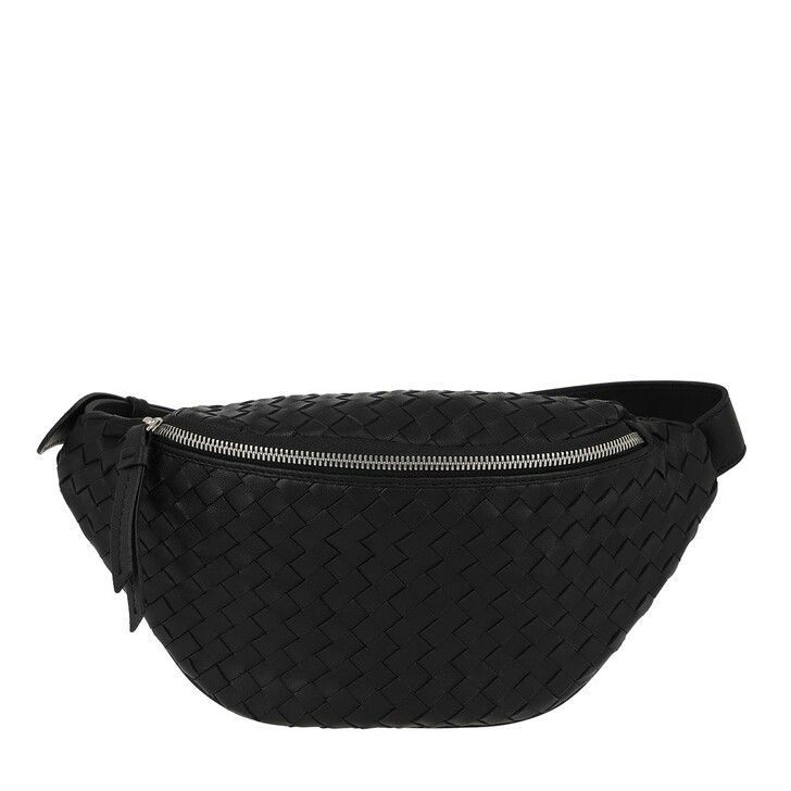 Handtasche, Abro, Beltbag Free  Black Nickel
