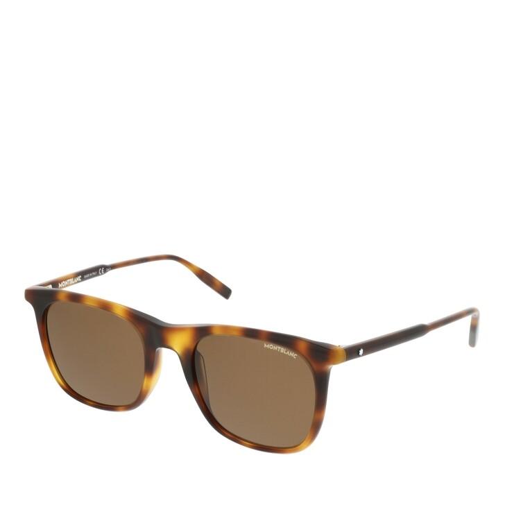 Sonnenbrille, Montblanc, MB0008S-002 53 Sunglass MAN ACETATE HAVANA