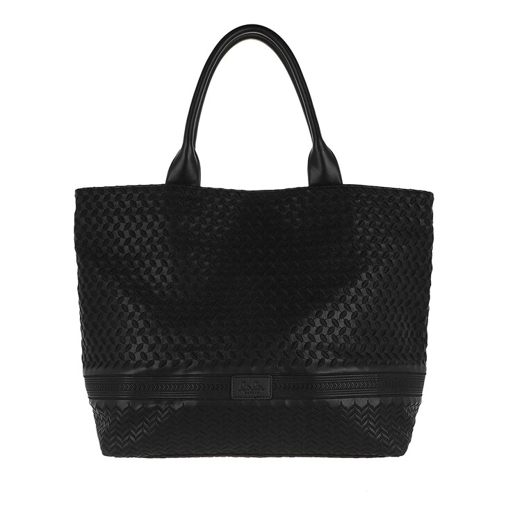 Handtasche, Lala Berlin, Tote Lane Kufiya Embroidery Black
