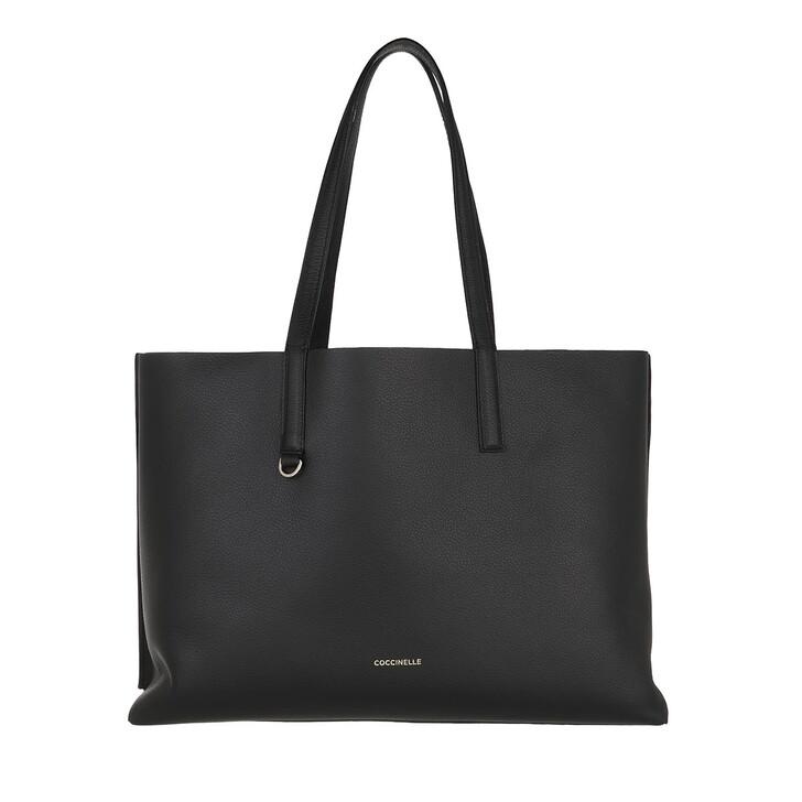 bags, Coccinelle, Martinee Shopper Noir/Ash Grey