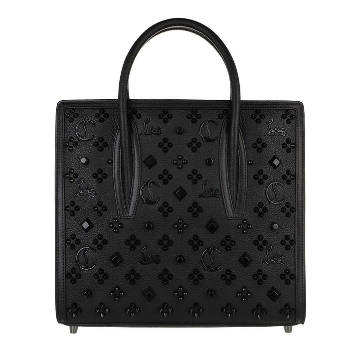 bags, Christian Louboutin, Paloma S Medium Leather Black/Ultrablack
