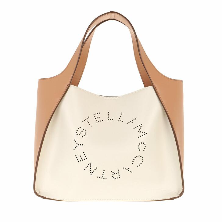 Handtasche, Stella McCartney, Logo Crossbody Bag Eco Soft White Camel
