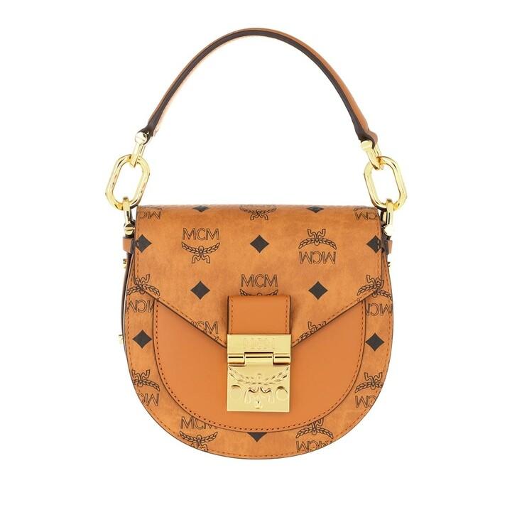 Handtasche, MCM, Patricia Visetos Shoulder Mini  Cognac
