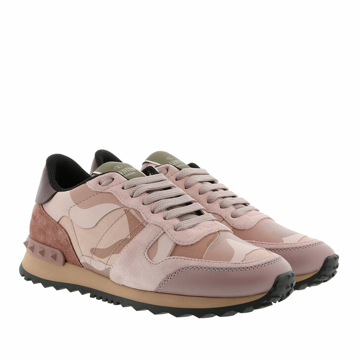 Schuh, Valentino Garavani, Camouflage Sneakers Pink