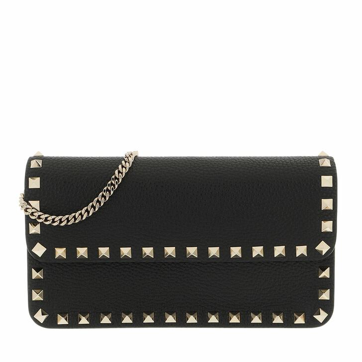 bags, Valentino Garavani, Rockstud Pouch Leather Black