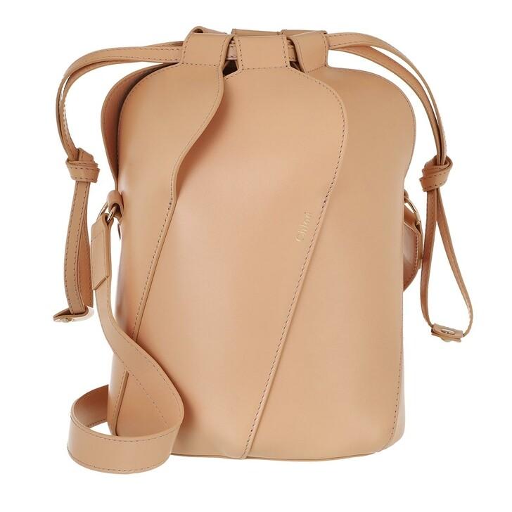 bags, Chloé, Tulip Bucket Bag Leather Sandy Beige