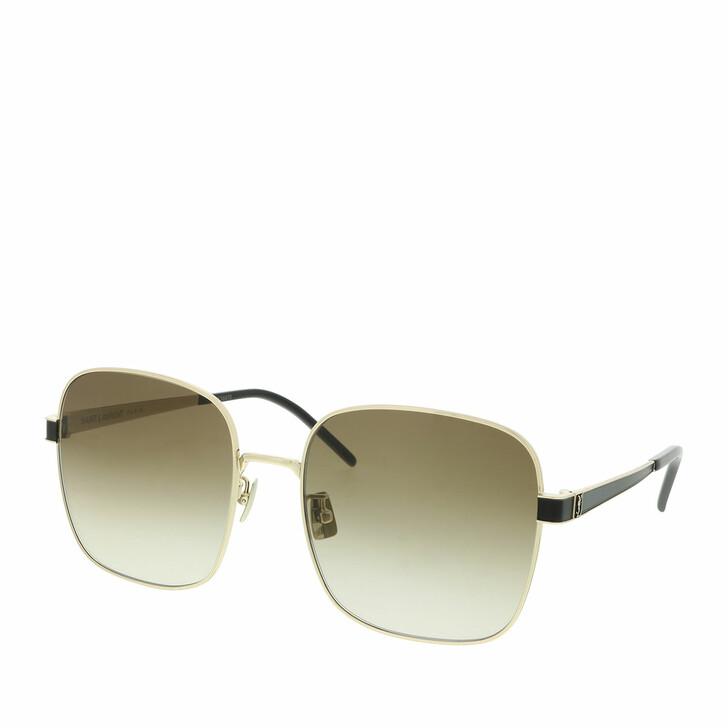 Sonnenbrille, Saint Laurent, SL M75-004 60 Sunglass WOMAN METAL Gold