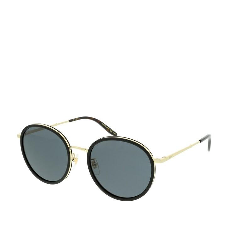 Sonnenbrille, Gucci, GG0677SK-001 55 Sunglasses Black-Gold-Grey