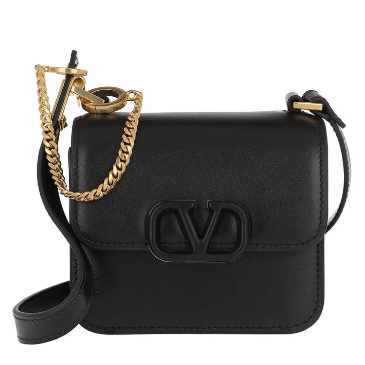 Handtasche, Valentino, VSLING Mini Crossbody Bag Calfskin Black