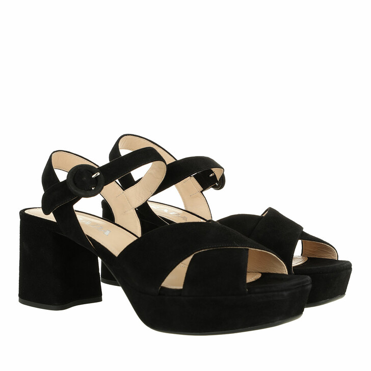 shoes, Prada, Sandal Black