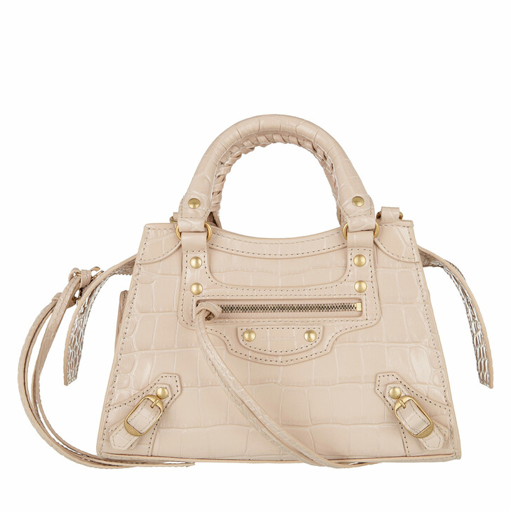 Handtasche, Balenciaga, Neo Classic Mini Top Handle Bag Leather Light Beige