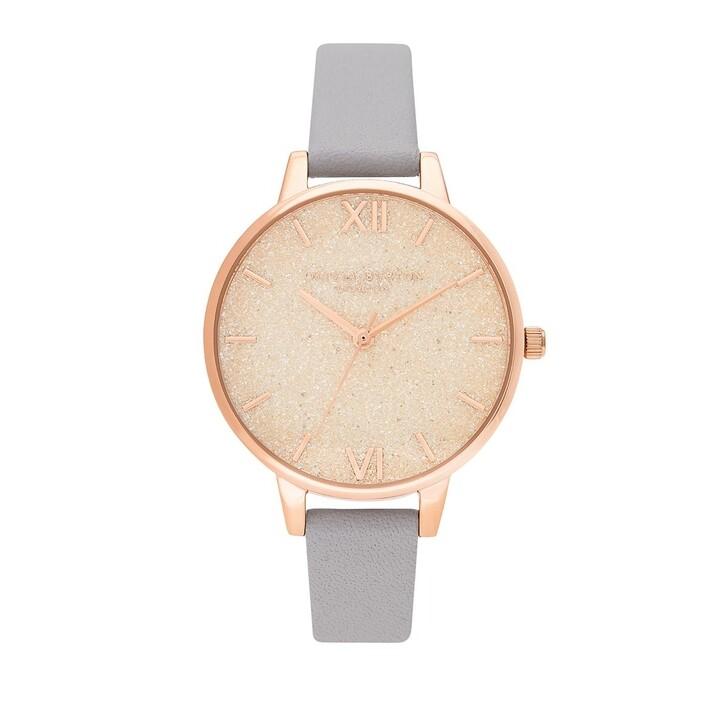 Uhr, Olivia Burton, Quartz Watch Women Glitter Dial OB16GD45 Violet